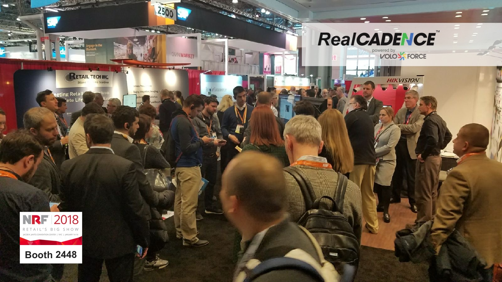 The RealCadence/Voloforce booth at the National Retail Federation (NRF) show 2018